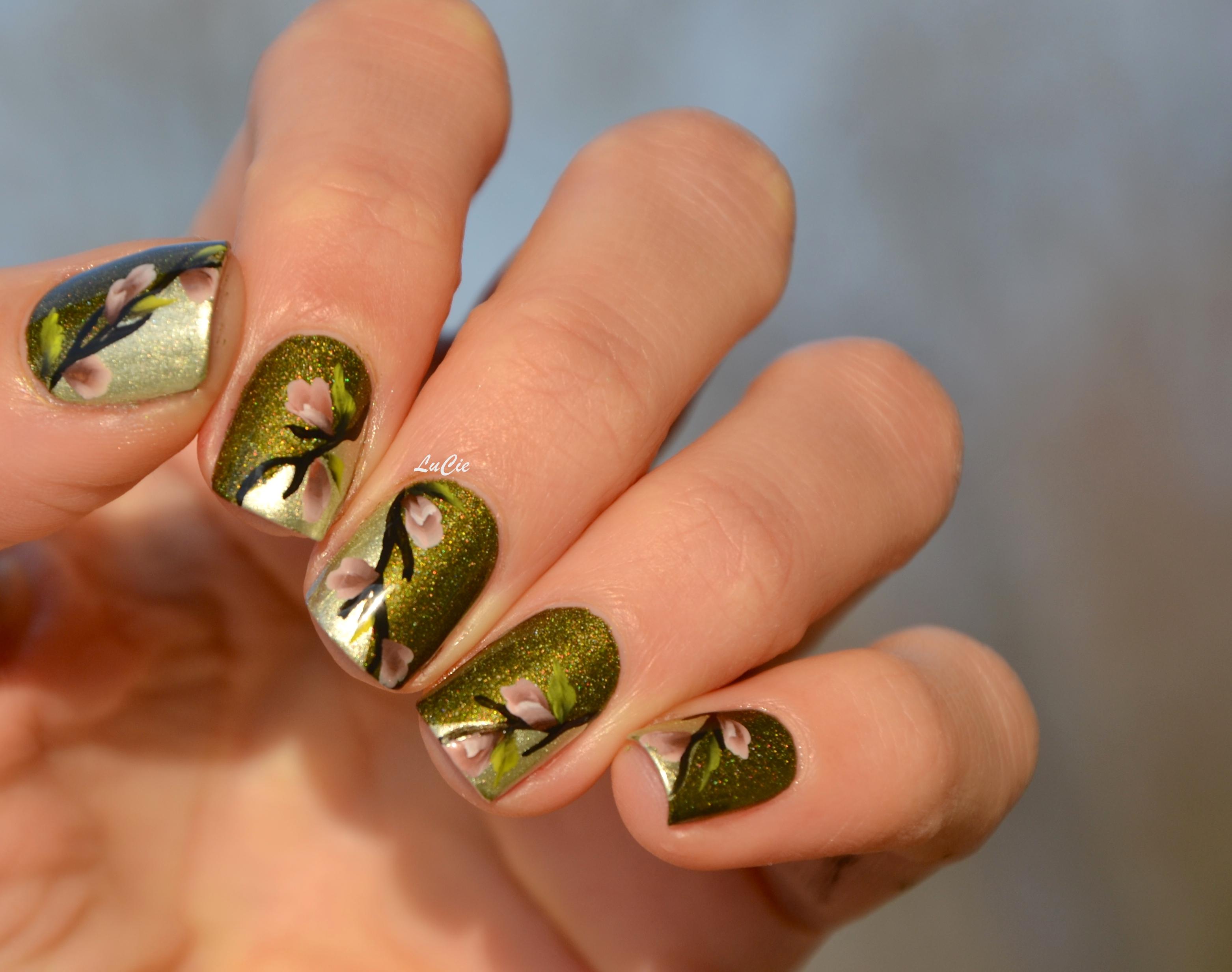 Nail art et si on appelait le printemps one stroke inside les ongles de lucie - Nail art printemps ...