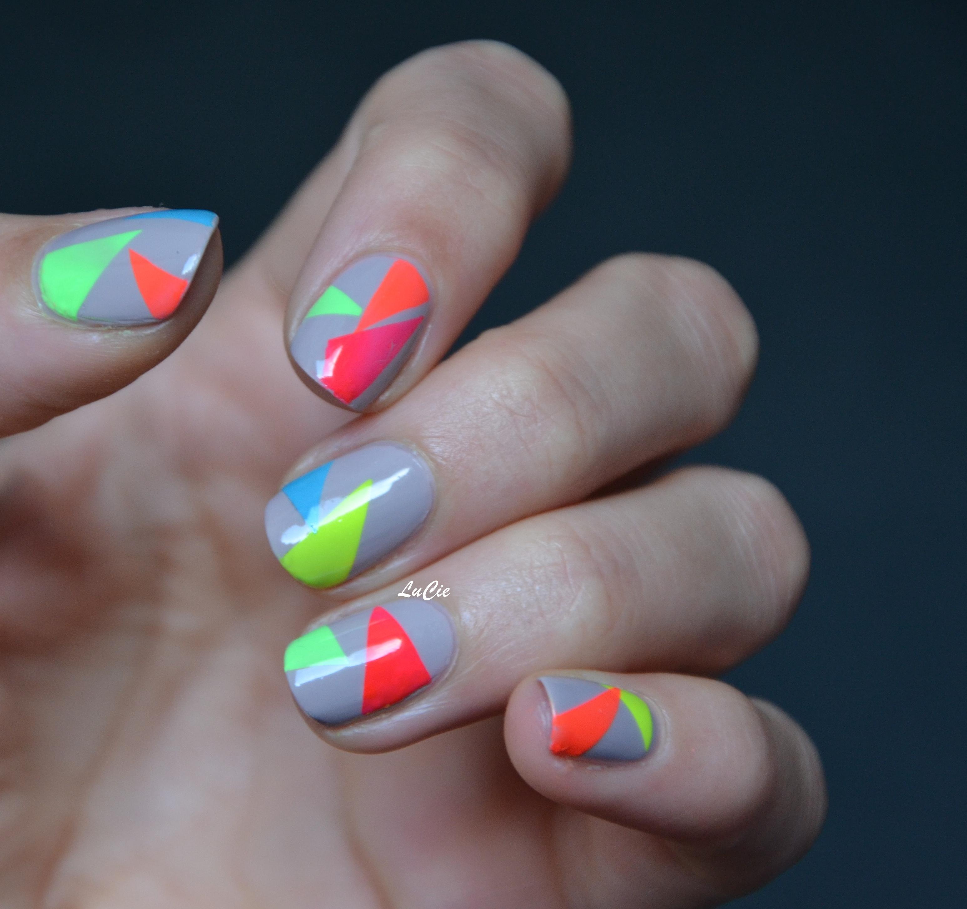 Nail art color block les ongles de lucie - Vernis a ongle original et facile a faire ...